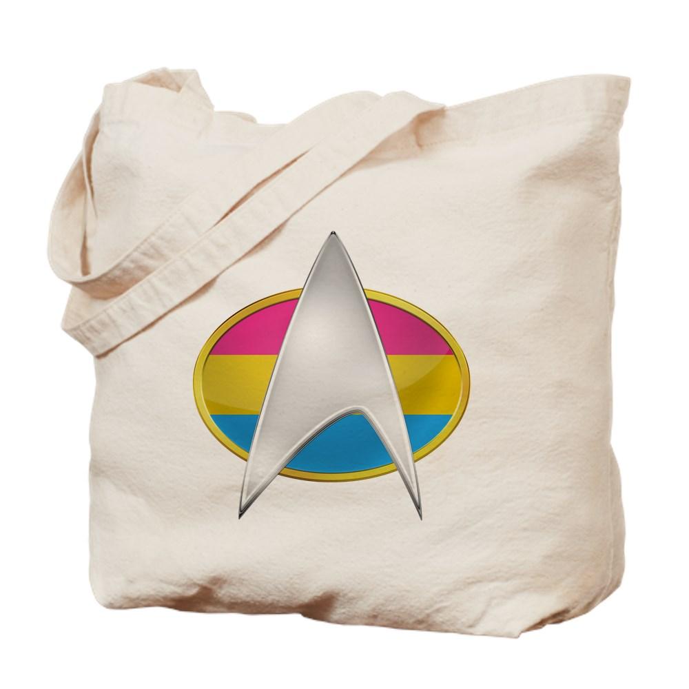Pansexual Pride Flag TNG Combadge Tote Bag
