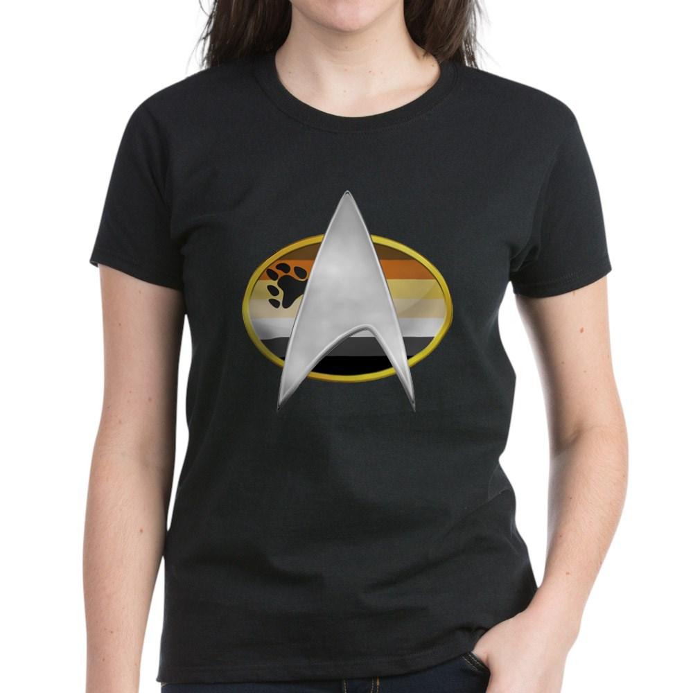 Gay Bear Pride Flag TNG Combadge Women's Dark T-Shirt