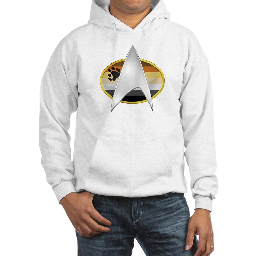 Gay Bear Pride Flag TNG Combadge Hooded Sweatshirt