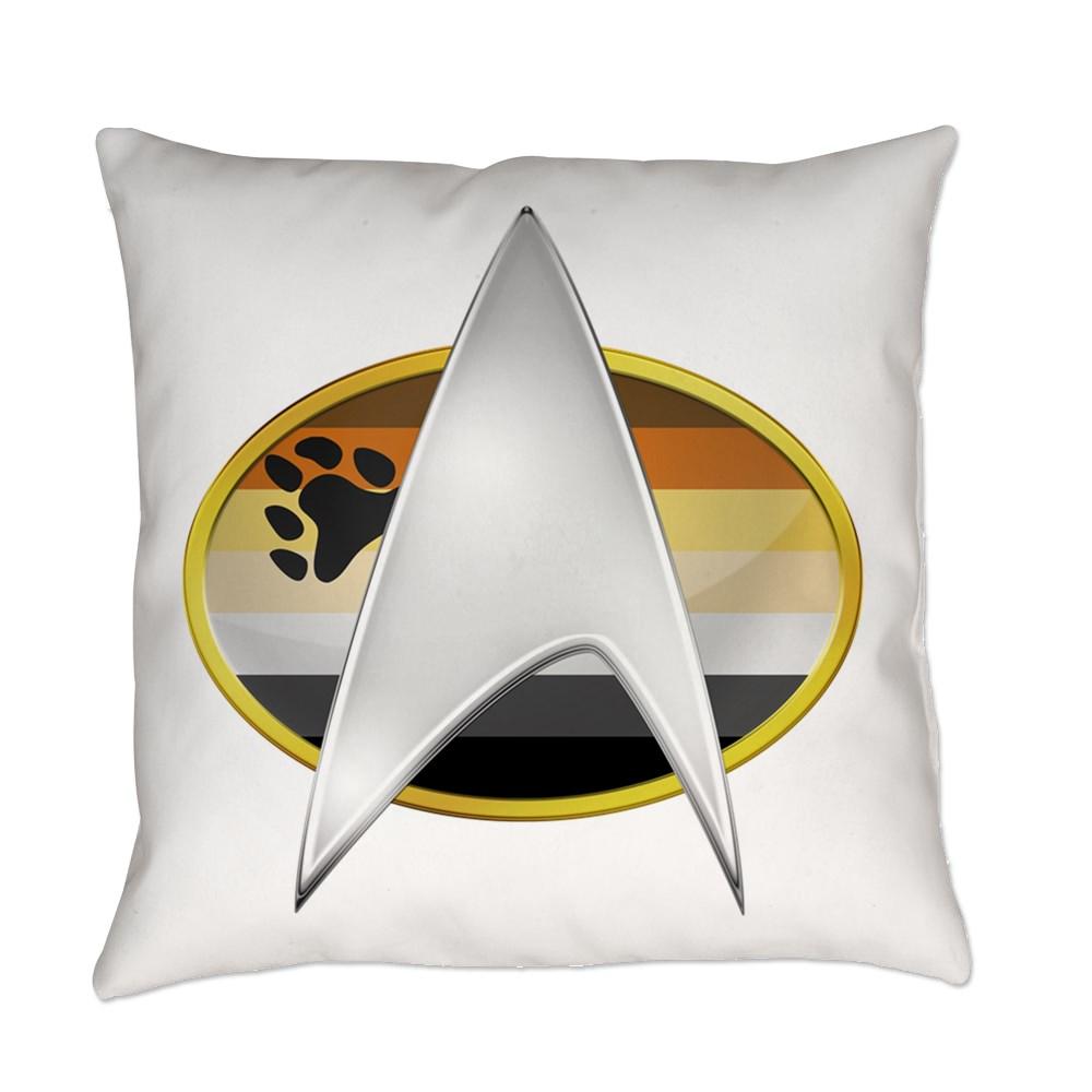 Gay Bear Pride Flag TNG Combadge Everyday Pillow