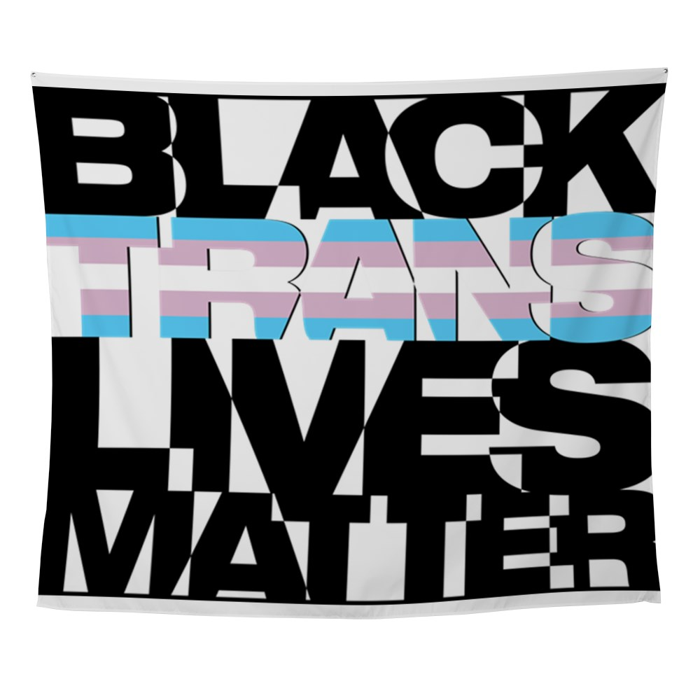 Black Trans Lives Matter Wall Tapestry