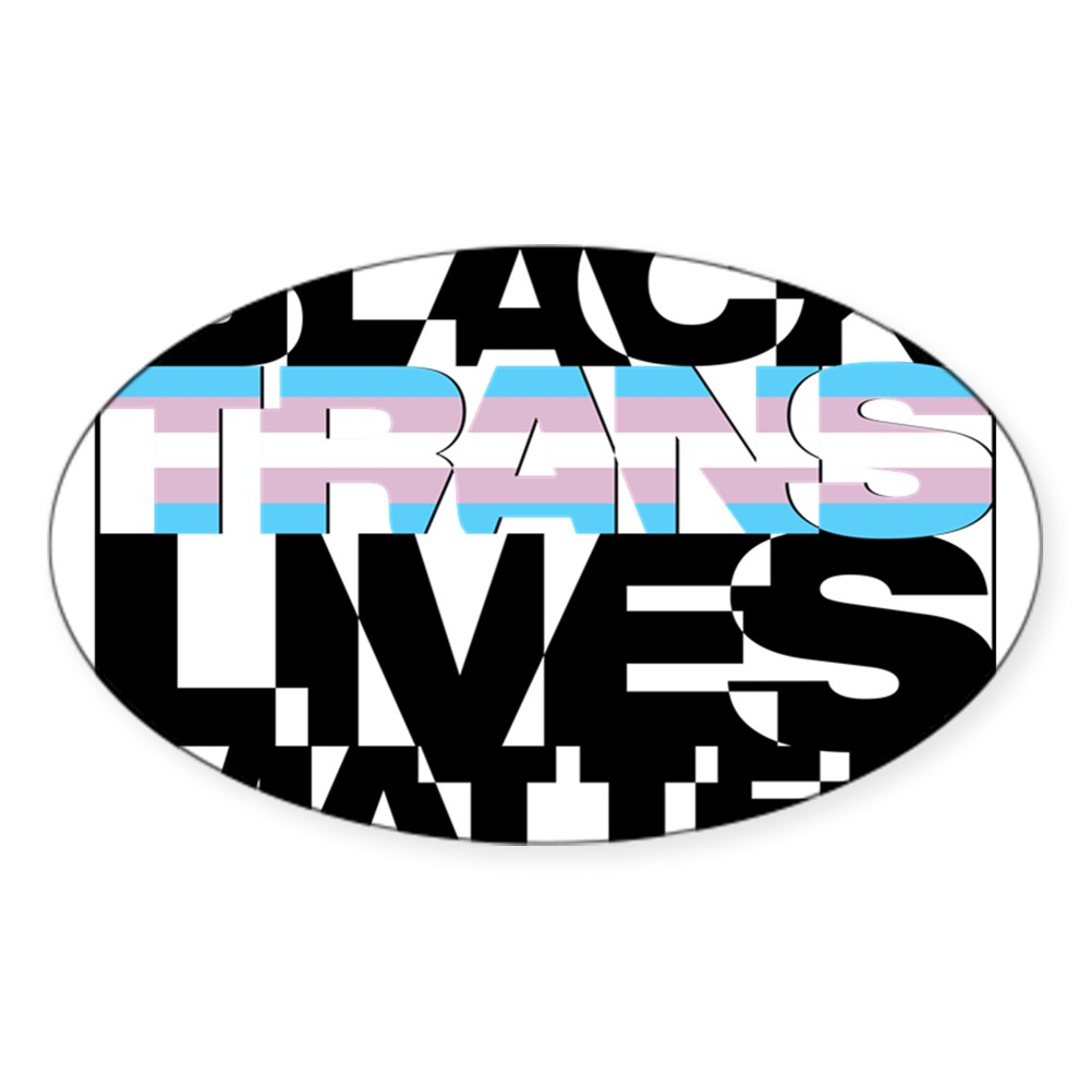 Black Trans Lives Matter Oval Sticker
