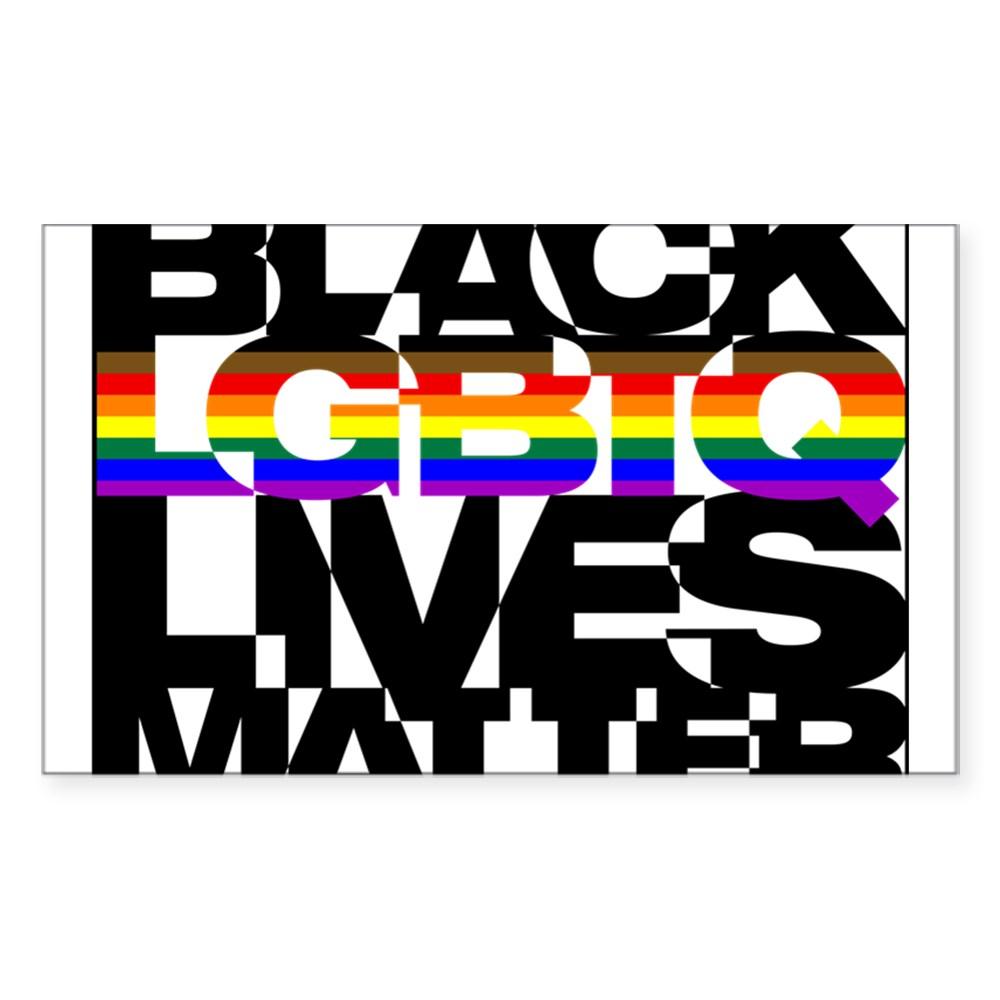 Black LGBTQ Lives Matter - Philly Pride Flag Rectangle Sticker
