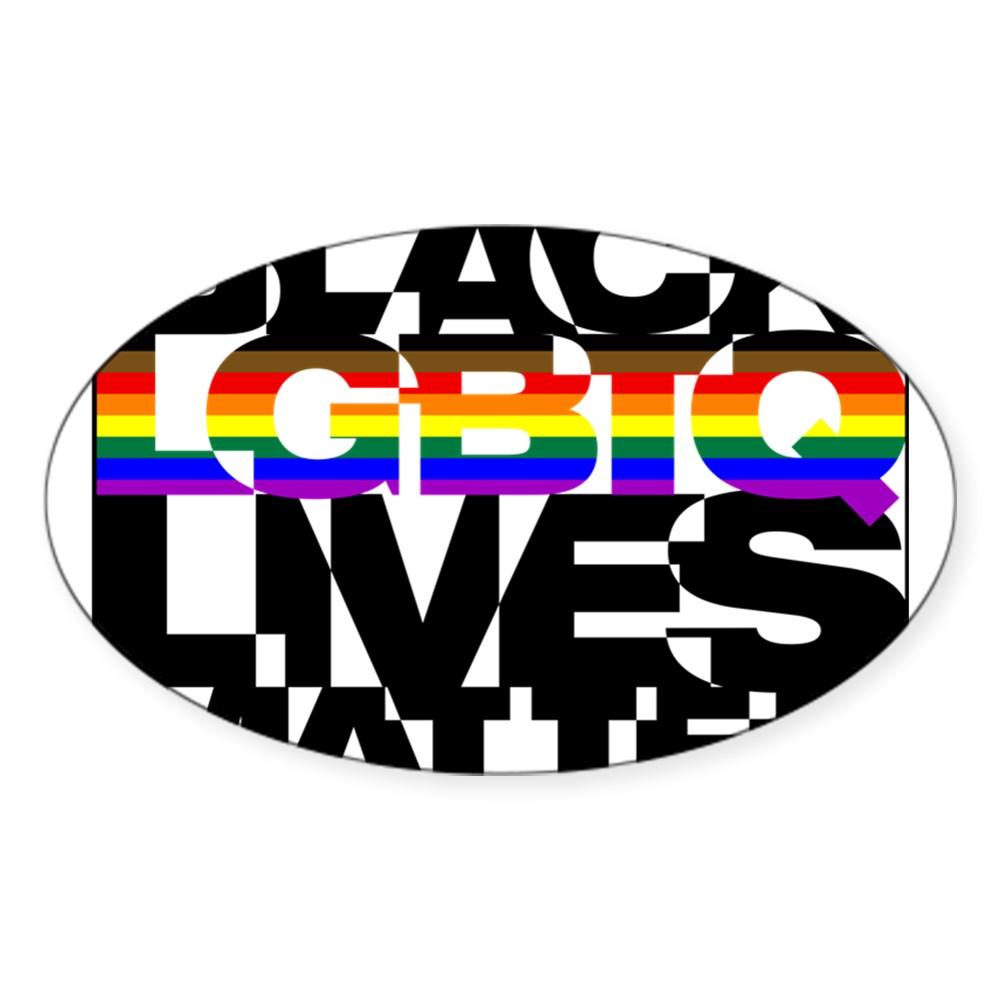 Black LGBTQ Lives Matter - Philly Pride Flag Oval Sticker