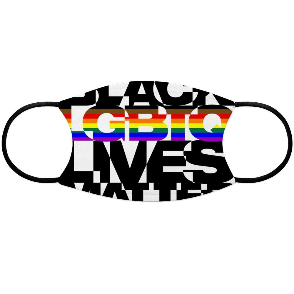 Black LGBTQ Lives Matter - Philly Pride Flag Face Mask