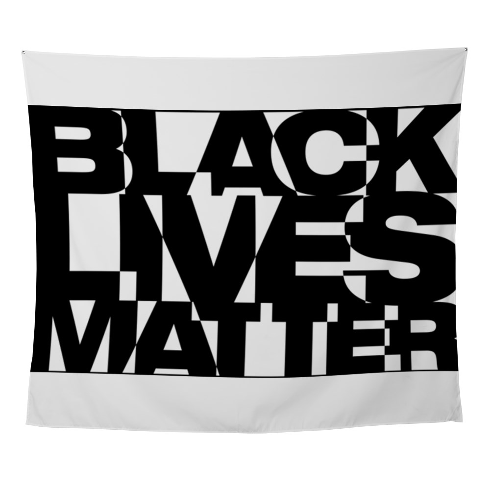 Black Live Matter Chaotic Typography Wall Tapestry