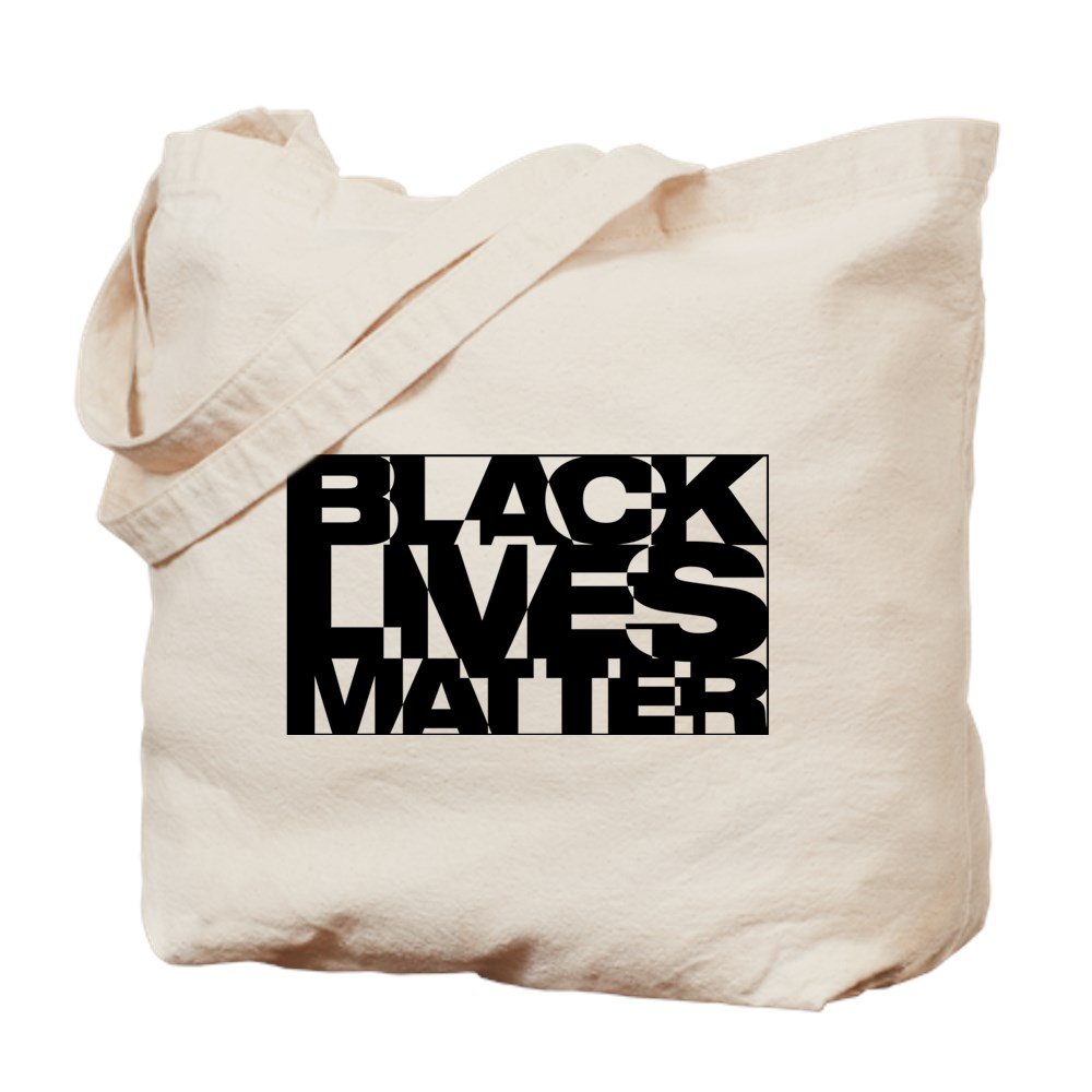 Black Live Matter Chaotic Typography Tote Bag