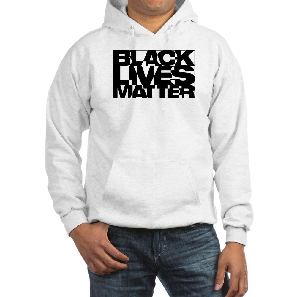 Black Live Matter Chaotic Typography Hooded Sweatshirt
