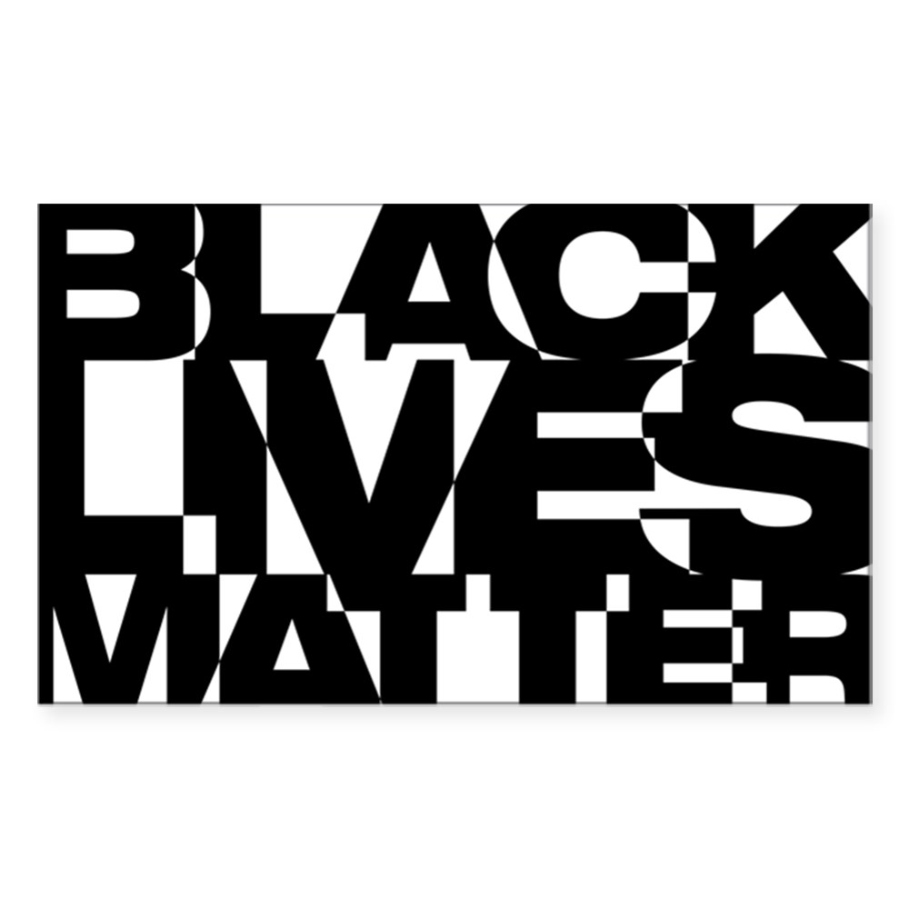 Black Live Matter Chaotic Typography Rectangle Sticker