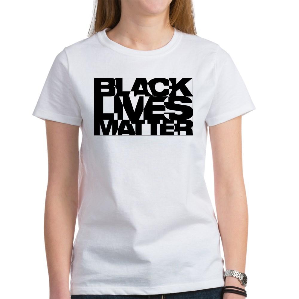 Black Live Matter Chaotic Typography Women's T-Shirt