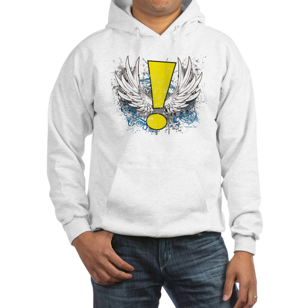 Winged Whee! Exclamation Point Logo Hooded Sweatshirt