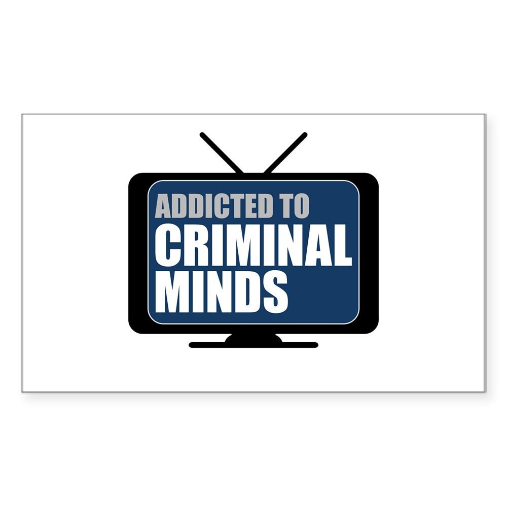 Addicted to Criminal Minds Rectangle Sticker