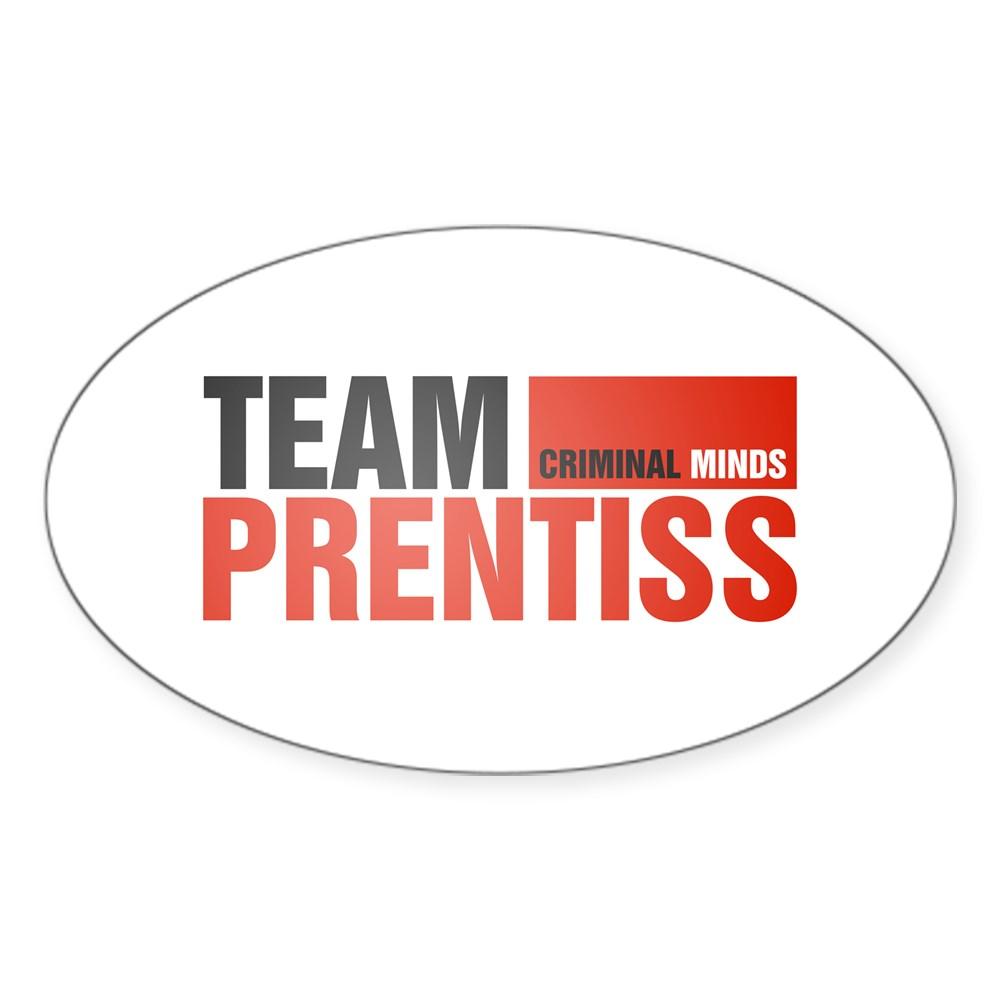 Team Prentiss Oval Sticker