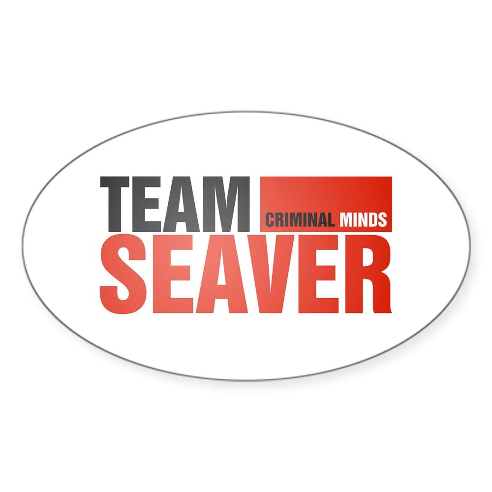 Team Seaver Oval Sticker