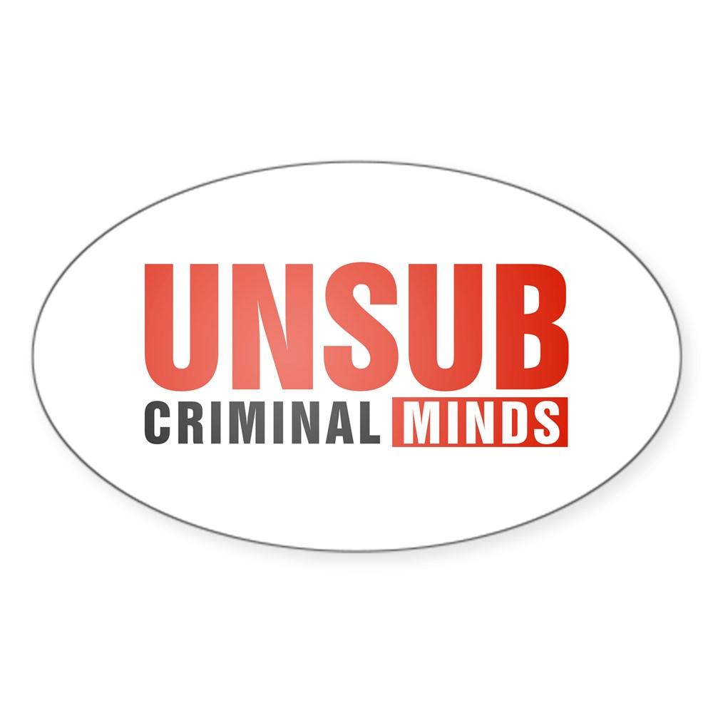 Criminal Minds UNSUB Oval Sticker