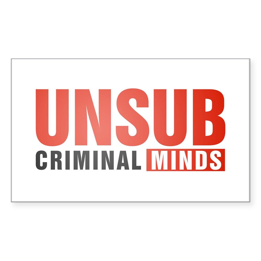 Criminal Minds UNSUB Rectangle Sticker