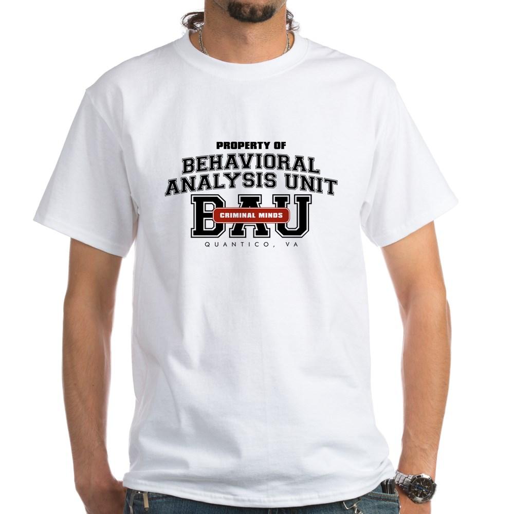 Property of Behavioral Analysis Unit - BAU White T-Shirt