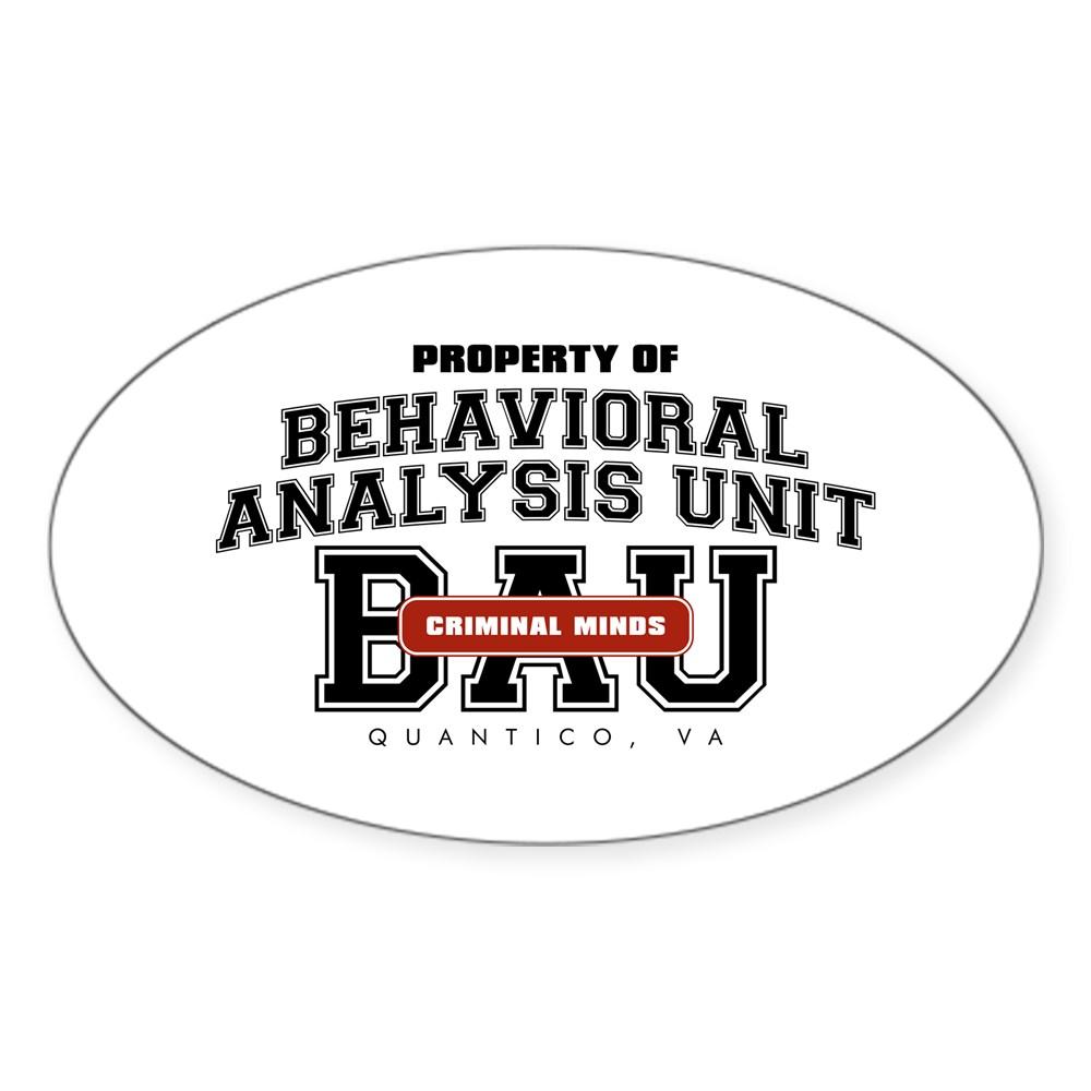 Property of Behavioral Analysis Unit - BAU Oval Sticker