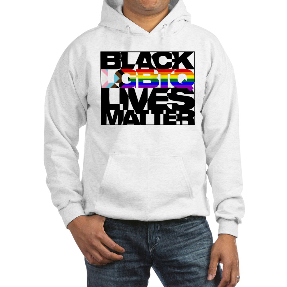 Black LGBTQ Lives Matter - Progress Pride Flag Hooded Sweatshirt