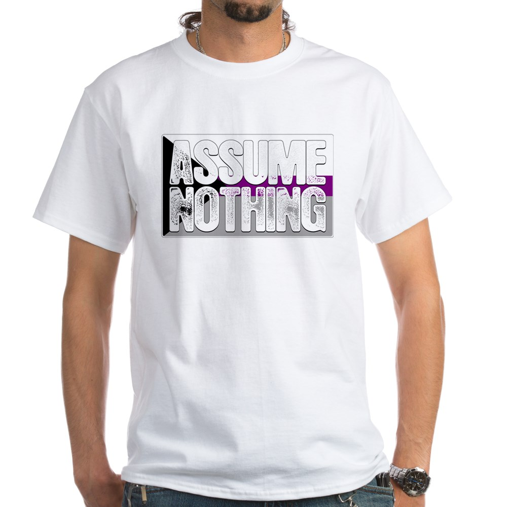 Assume Nothing Demisexual Pride Flag White T-Shirt
