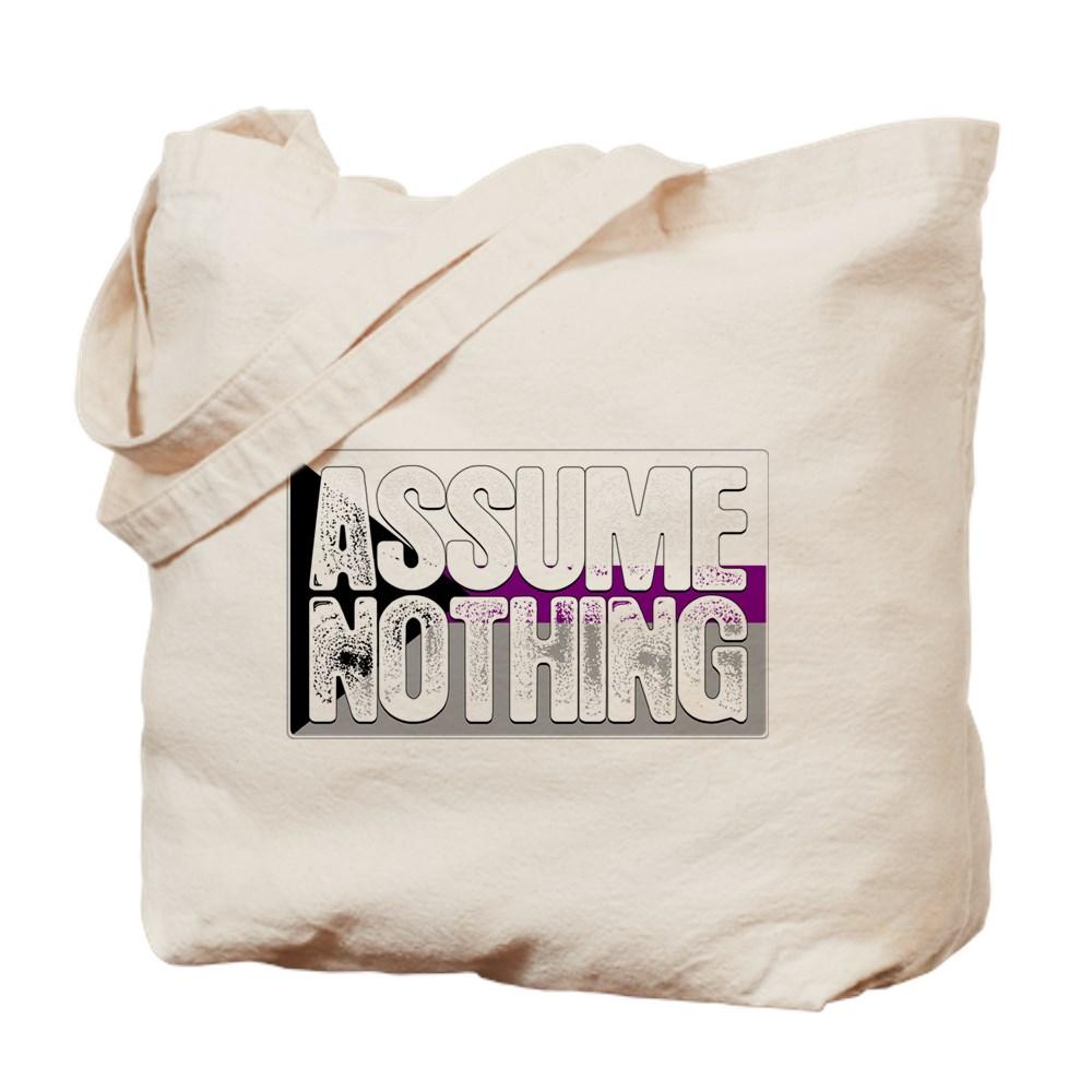 Assume Nothing Demisexual Pride Flag Tote Bag