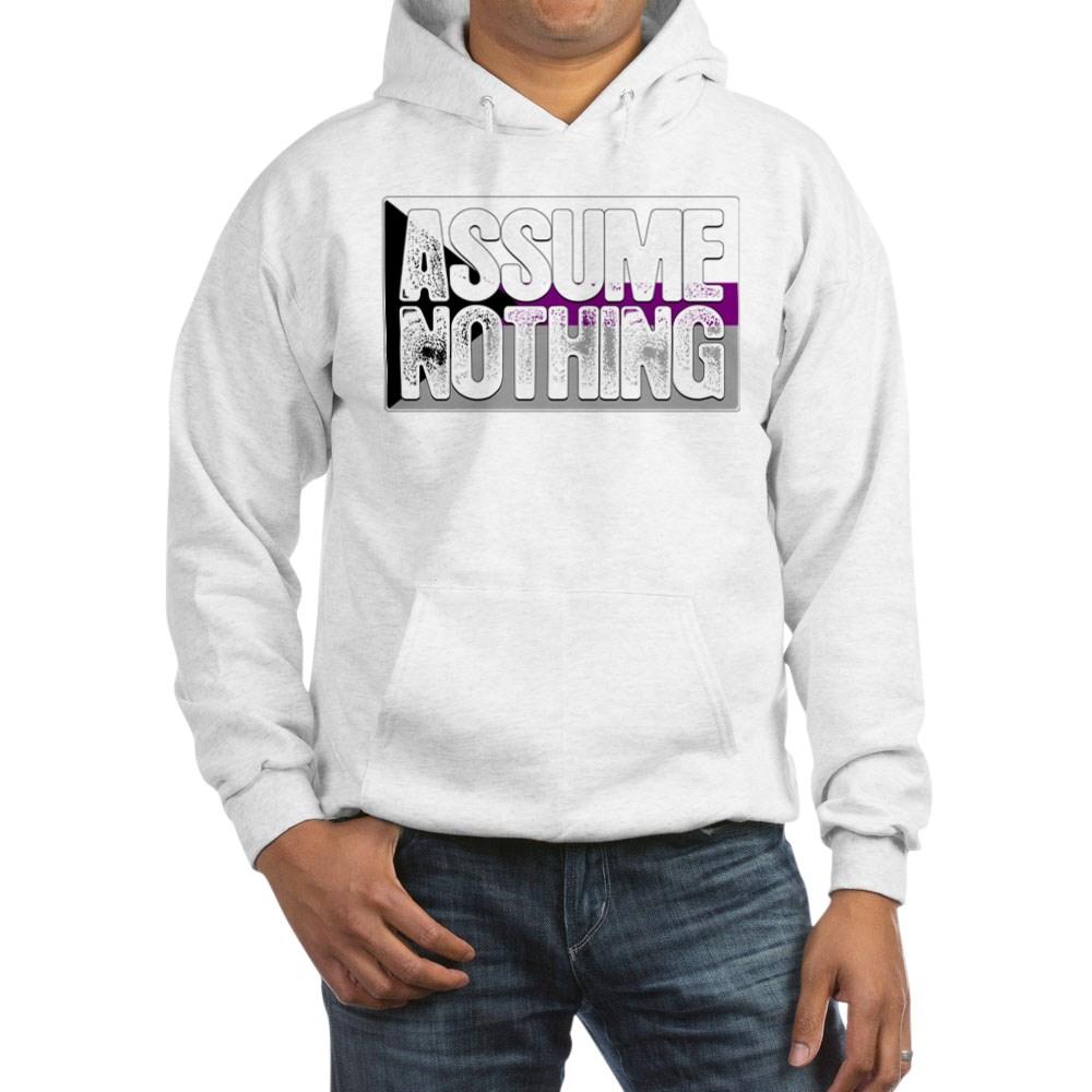 Assume Nothing Demisexual Pride Flag Hooded Sweatshirt