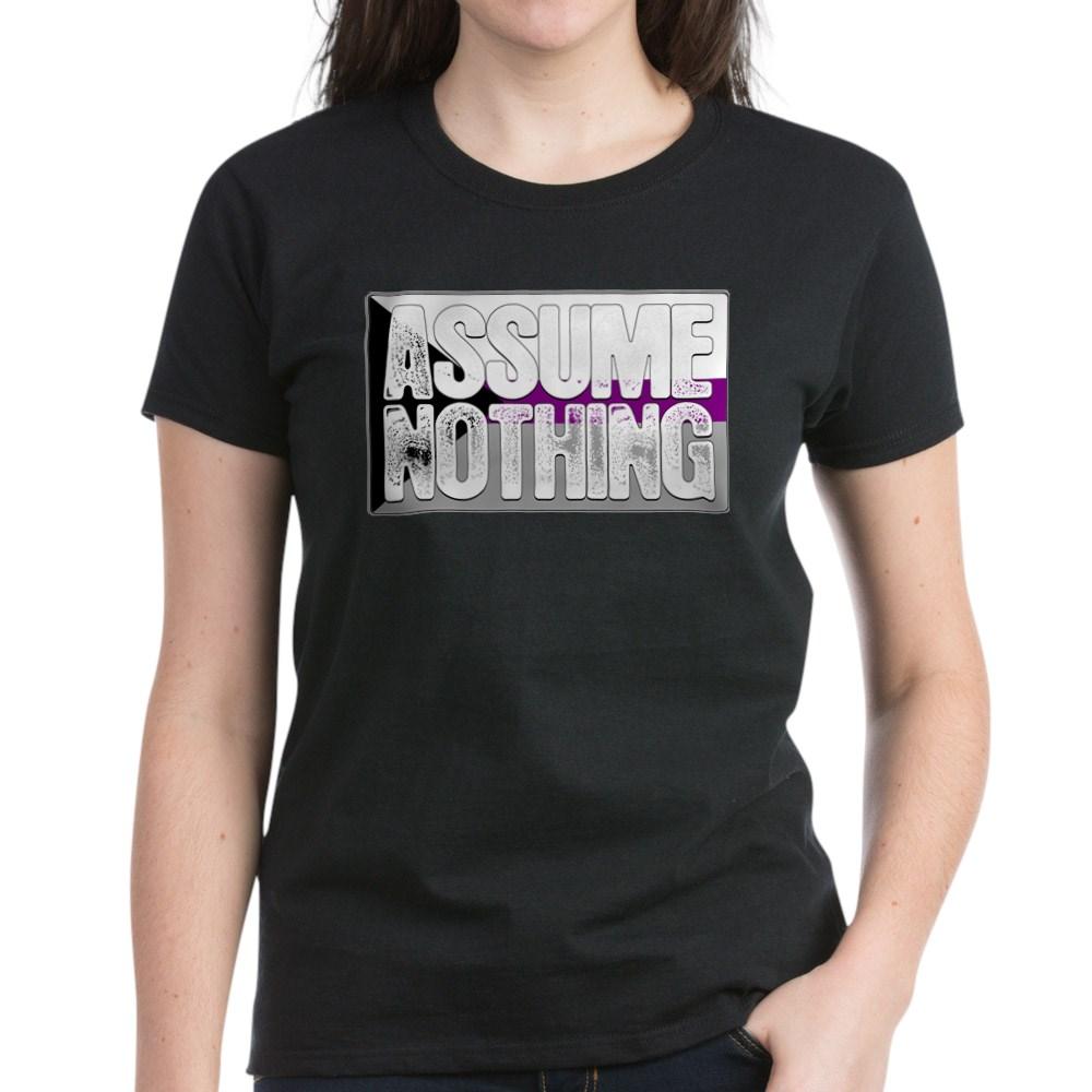 Assume Nothing Demisexual Pride Flag Women's Dark T-Shirt