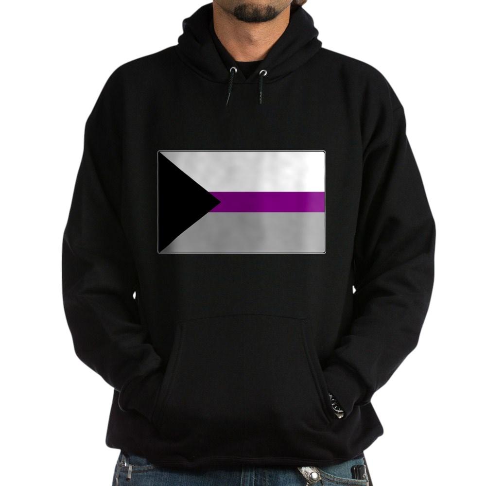 Demisexual Pride Flag Dark Hoodie