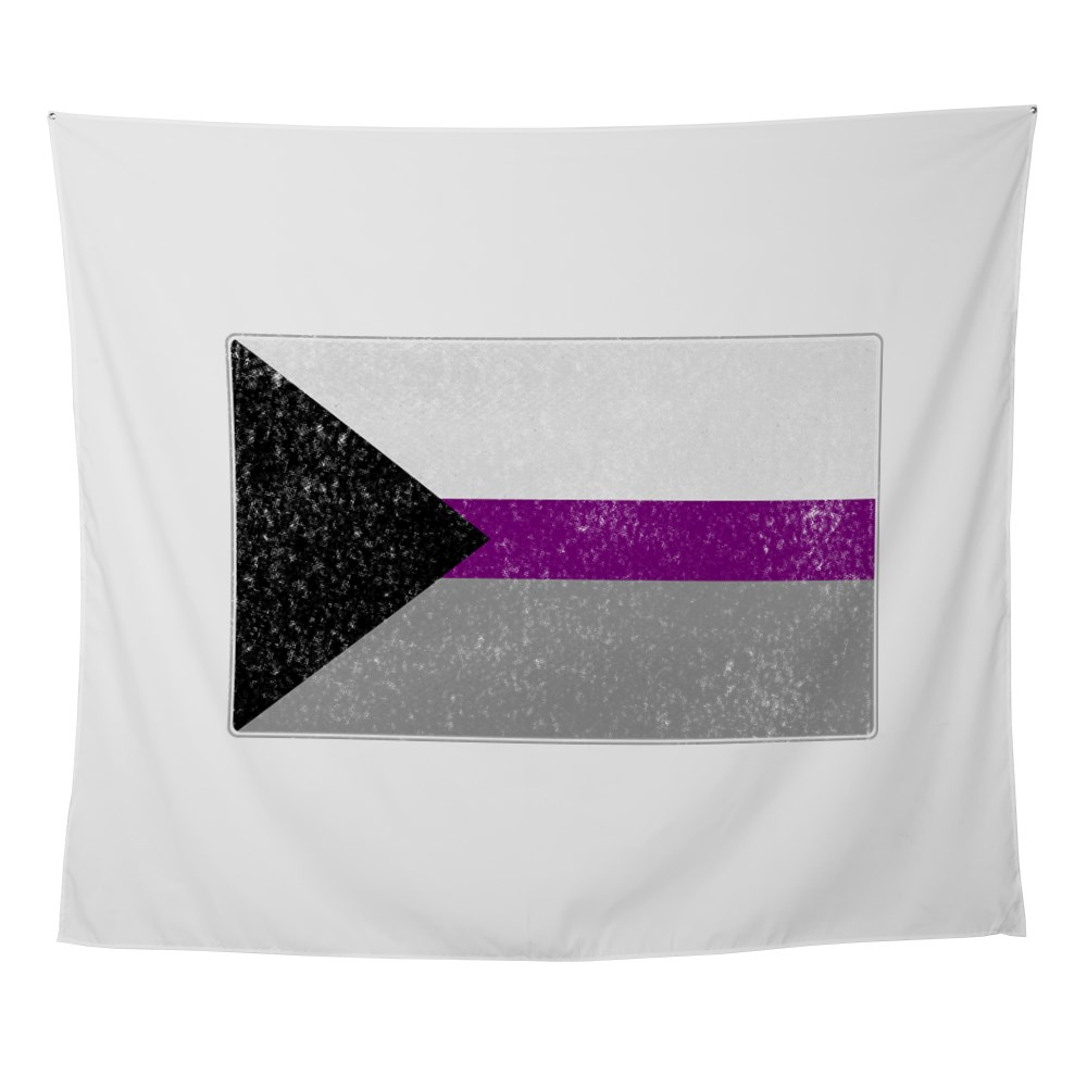 Distressed Demisexual Pride Flag Wall Tapestry