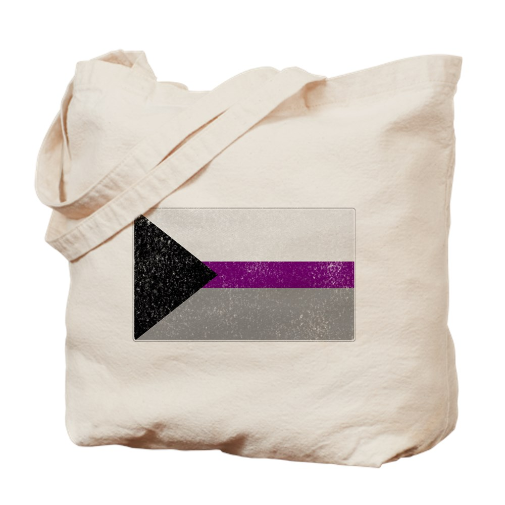 Distressed Demisexual Pride Flag Tote Bag