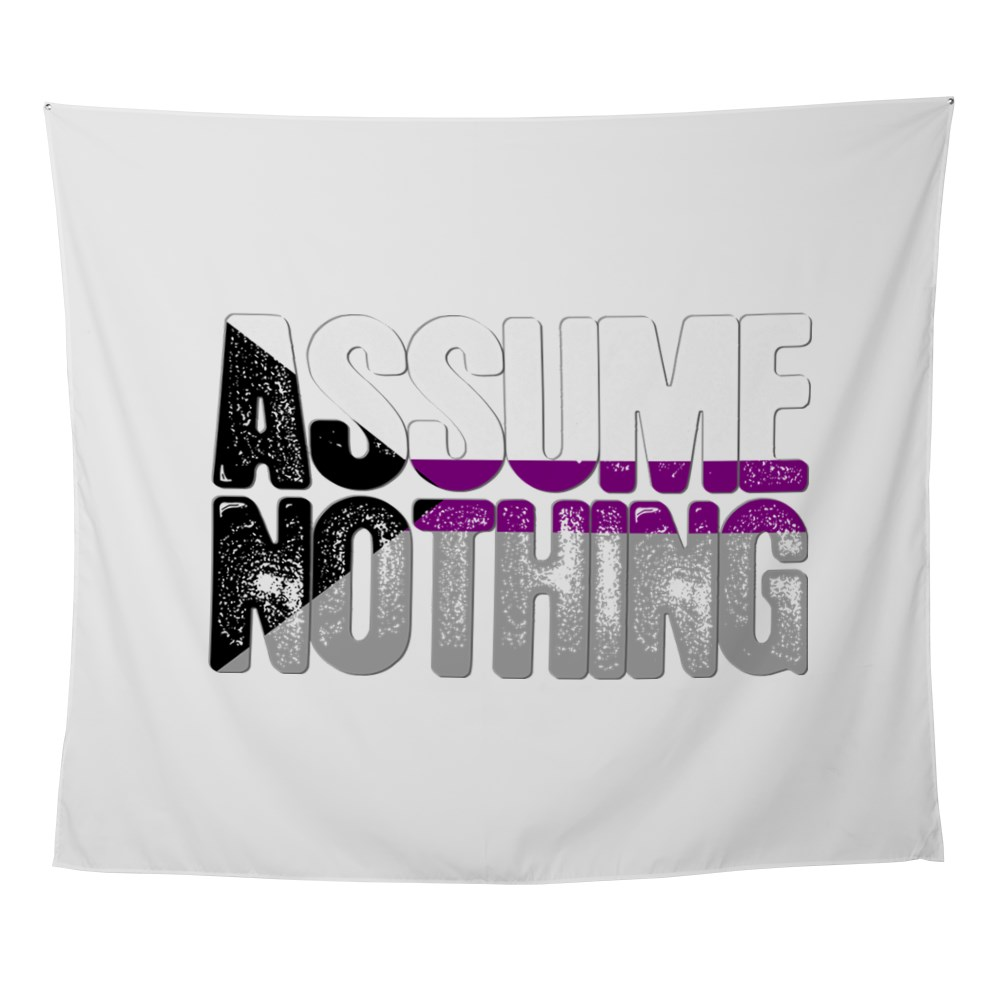 Assume Nothing Demisexual Pride Wall Tapestry