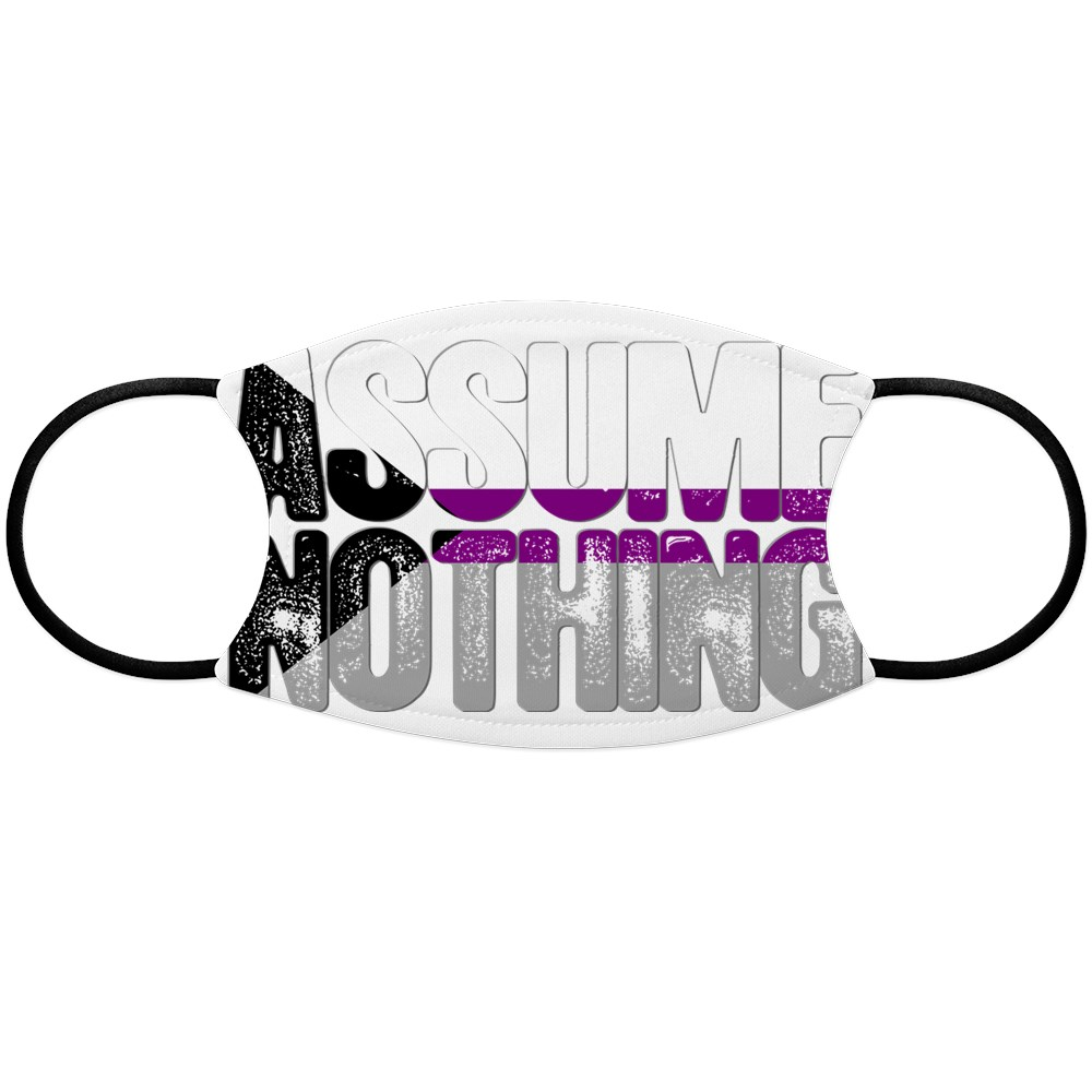 Assume Nothing Demisexual Pride Face Mask