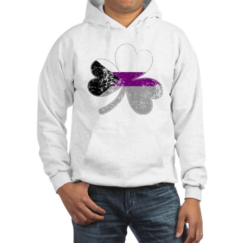 Demisexual Shamrock Pride Flag Hooded Sweatshirt