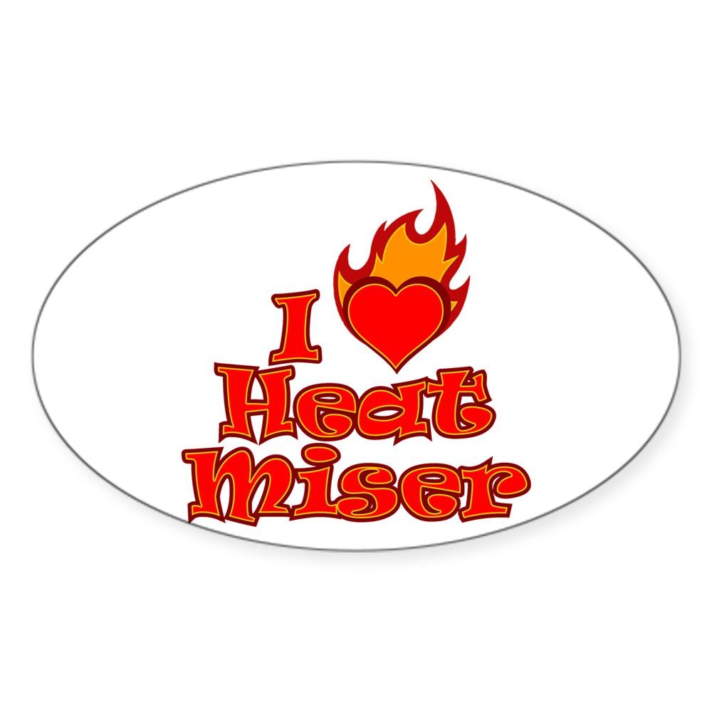 I Heart Heat Miser Oval Sticker