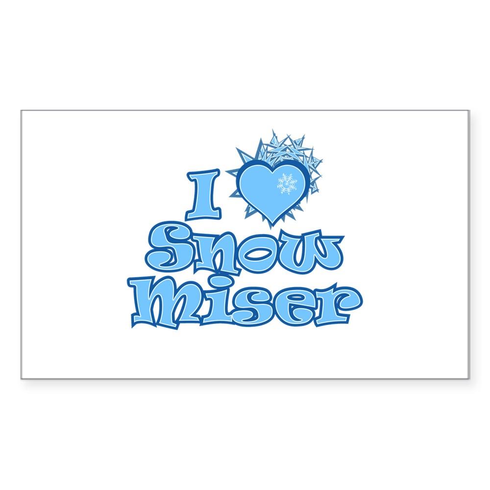 I Heart Snow Miser Rectangle Sticker