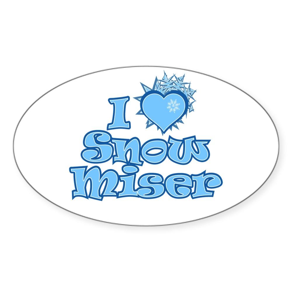 I Heart Snow Miser Oval Sticker