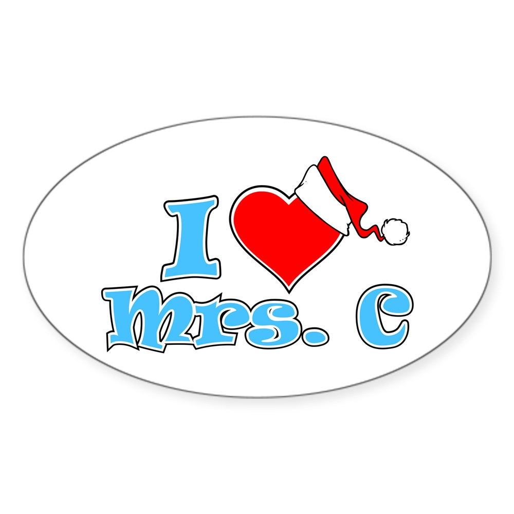 I Heart Mrs. C Oval Sticker