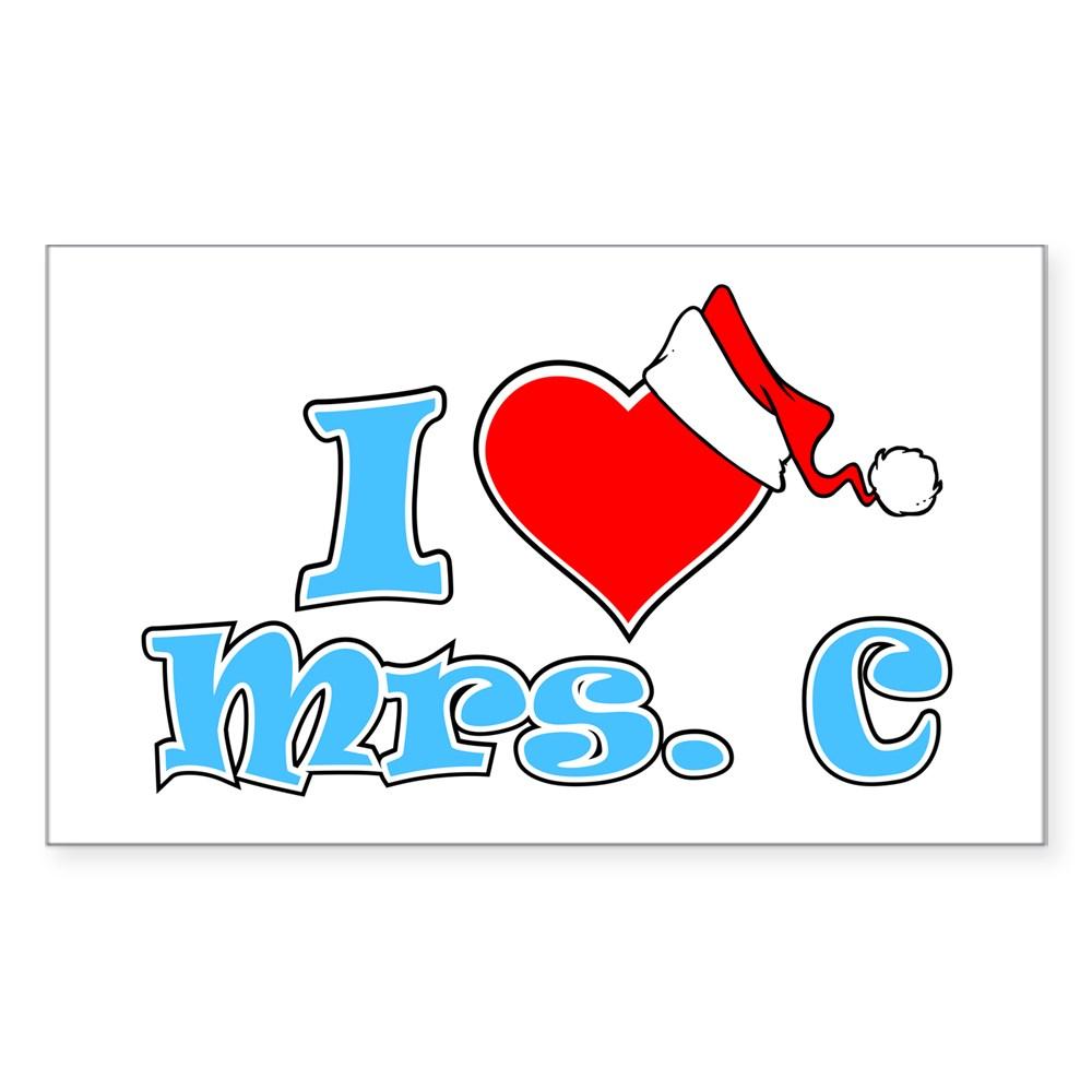 I Heart Mrs. C Rectangle Sticker