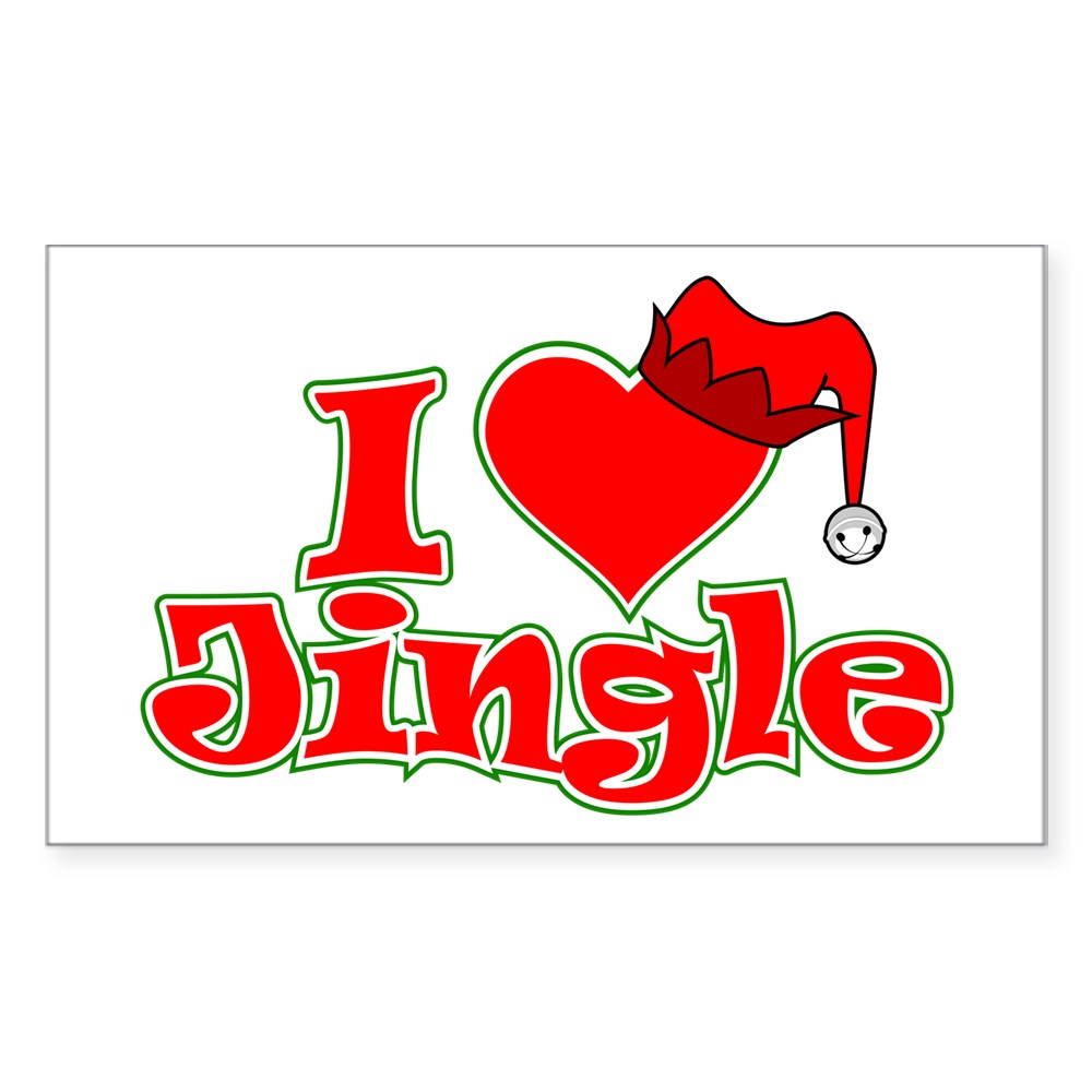 I Heart Jingle Rectangle Sticker