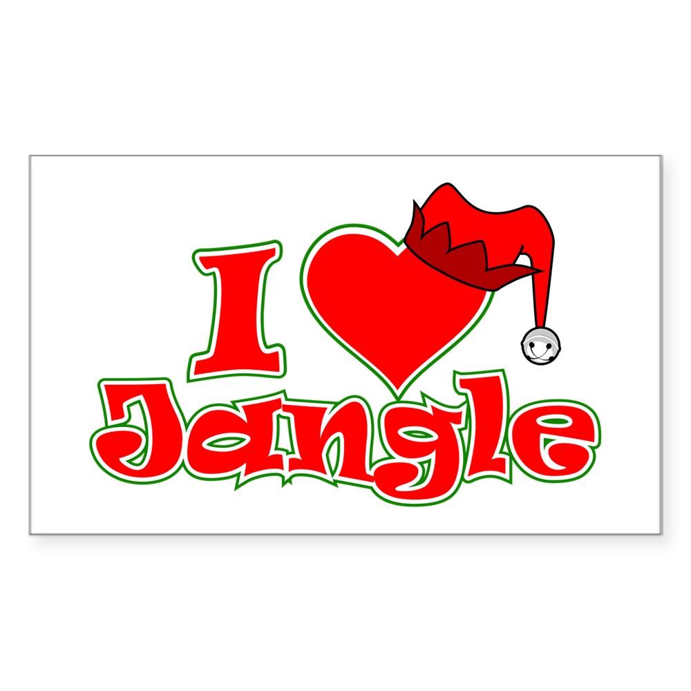 I Heart Jangle Rectangle Sticker