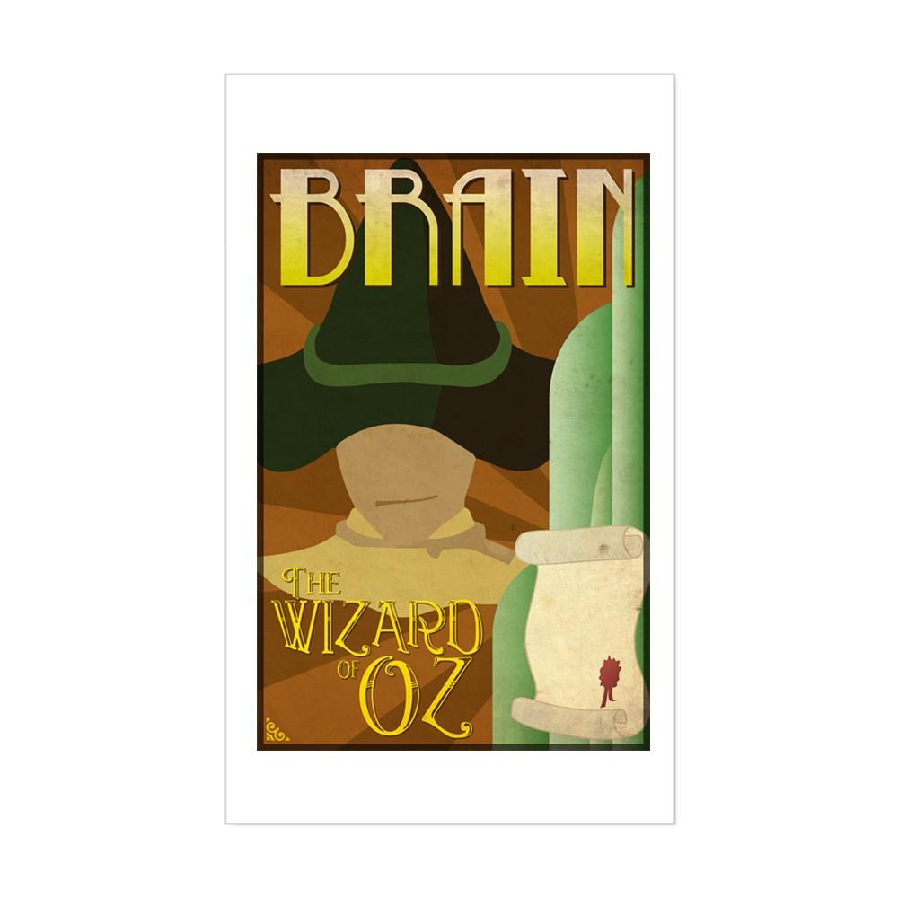Wizard of Oz Scarecrow Deco Poster Design Rectangle Sticker