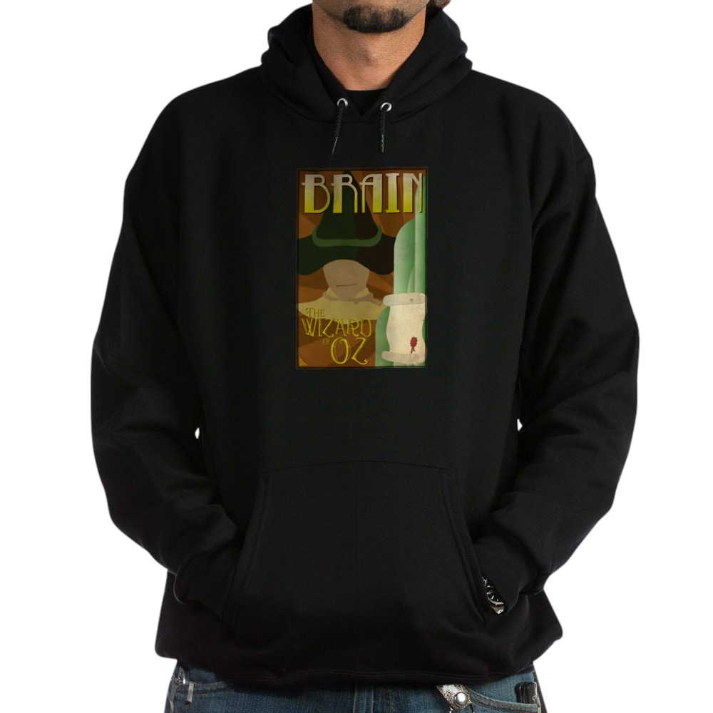 Wizard of Oz Scarecrow Deco Poster Design Dark Hoodie