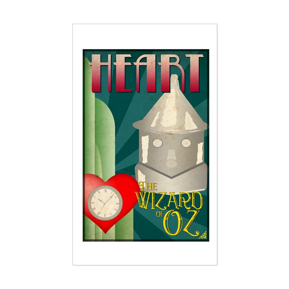 Wizard of Oz Tin Man Deco Poster Design Rectangle Sticker