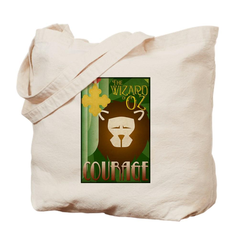 Wizard of Oz Cowardly Lion Deco Poster Design Tote Bag