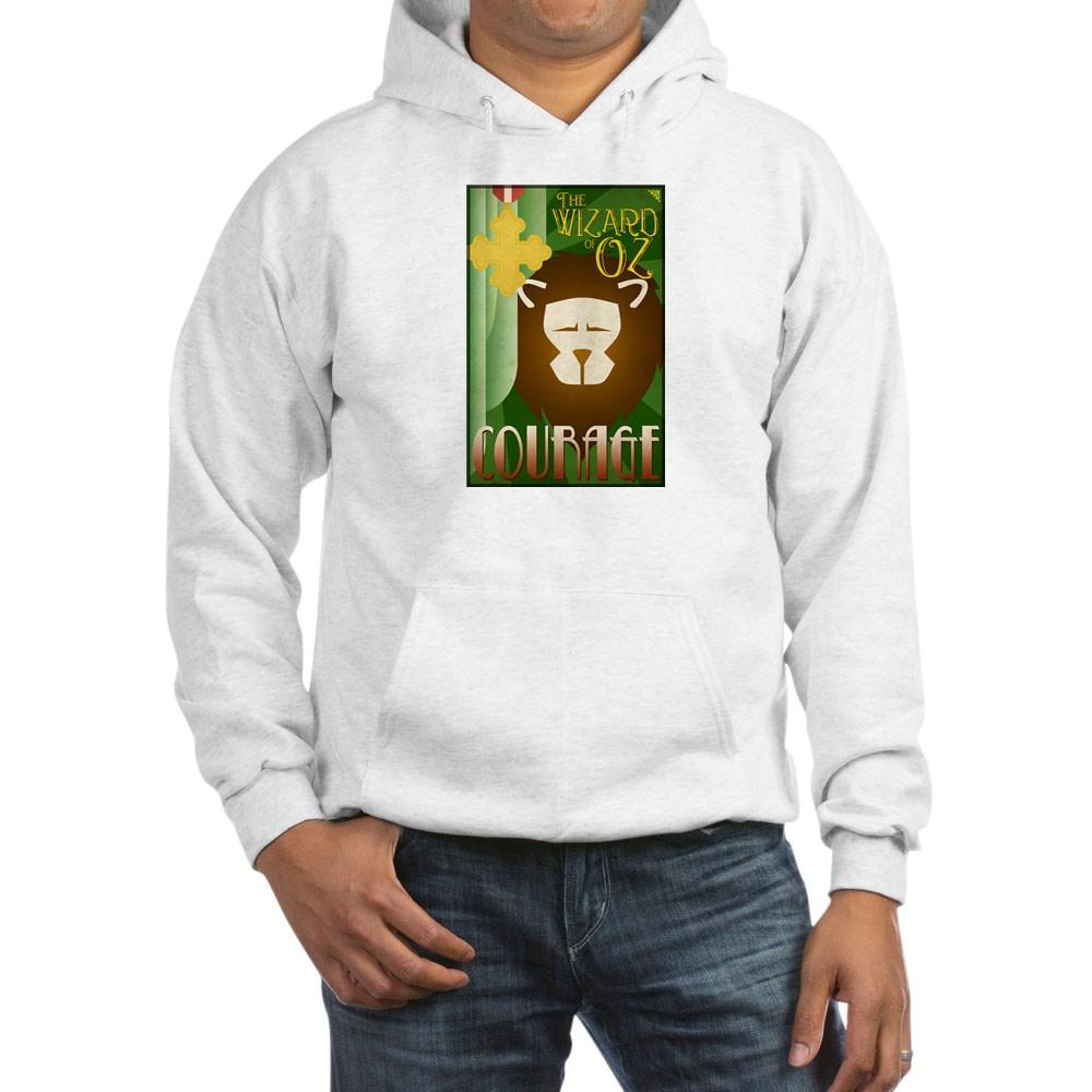 Wizard of Oz Cowardly Lion Deco Poster Design Hooded Sweatshirt