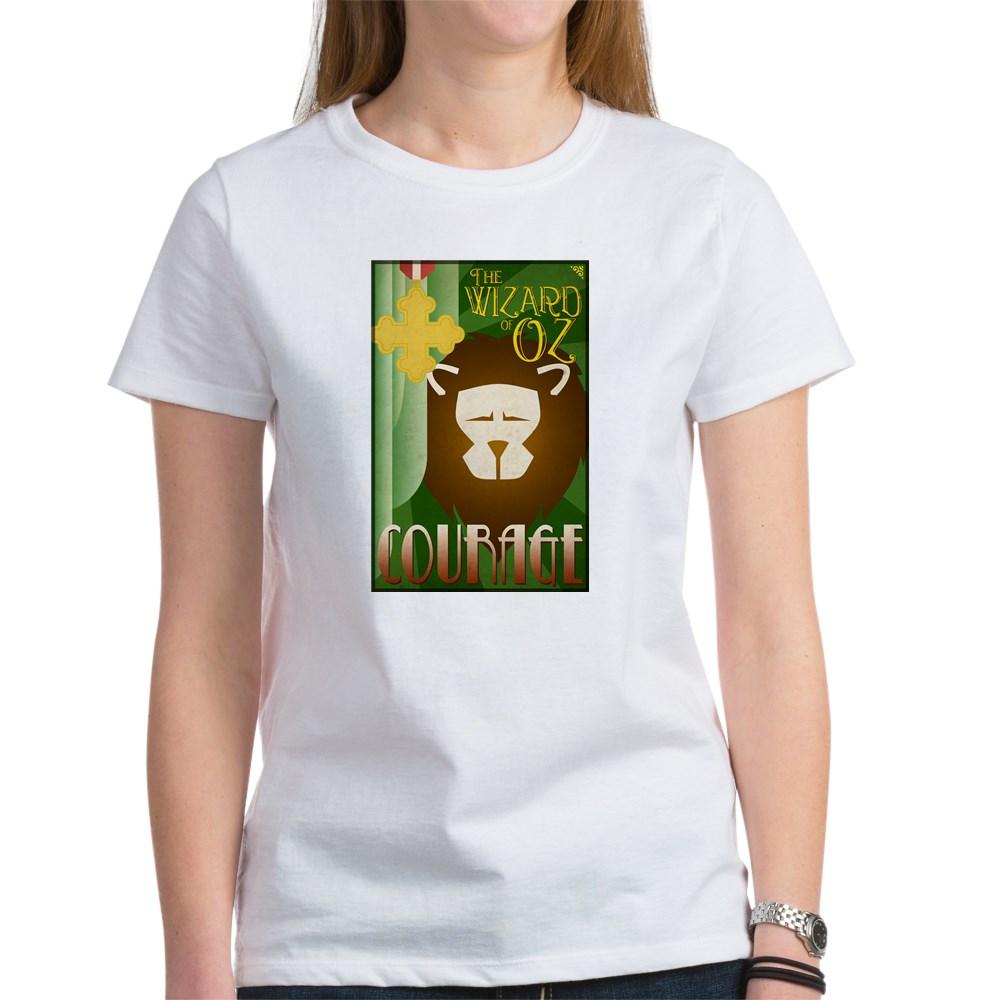 Wizard of Oz Cowardly Lion Deco Poster Design Women's T-Shirt