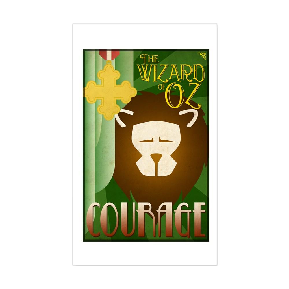 Wizard of Oz Cowardly Lion Deco Poster Design Rectangle Sticker