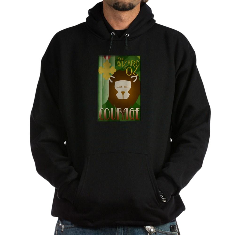 Wizard of Oz Cowardly Lion Deco Poster Design Dark Hoodie