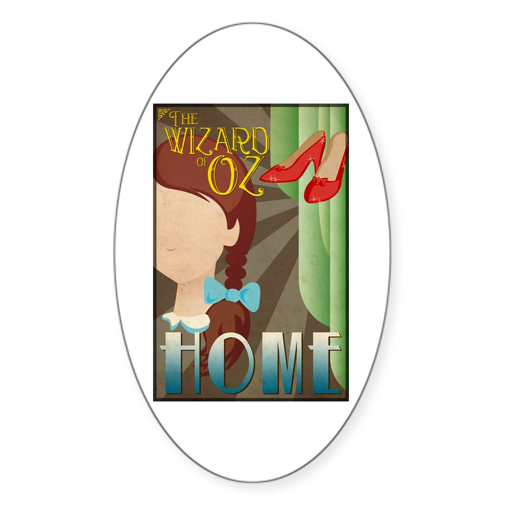Wizard of Oz Dorothy Deco Poster Design Oval Sticker