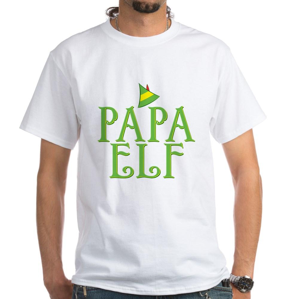 Papa Elf White T-Shirt